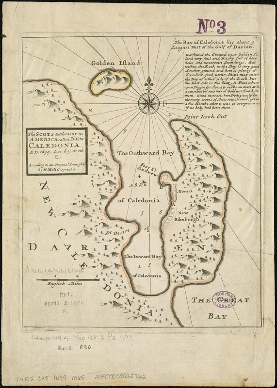 The Scots settlement in America called New Caledonia, A.D. 1699
