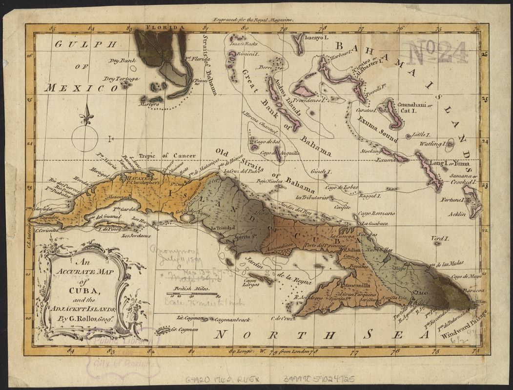 An accurate map of Cuba, and the adjacent islands