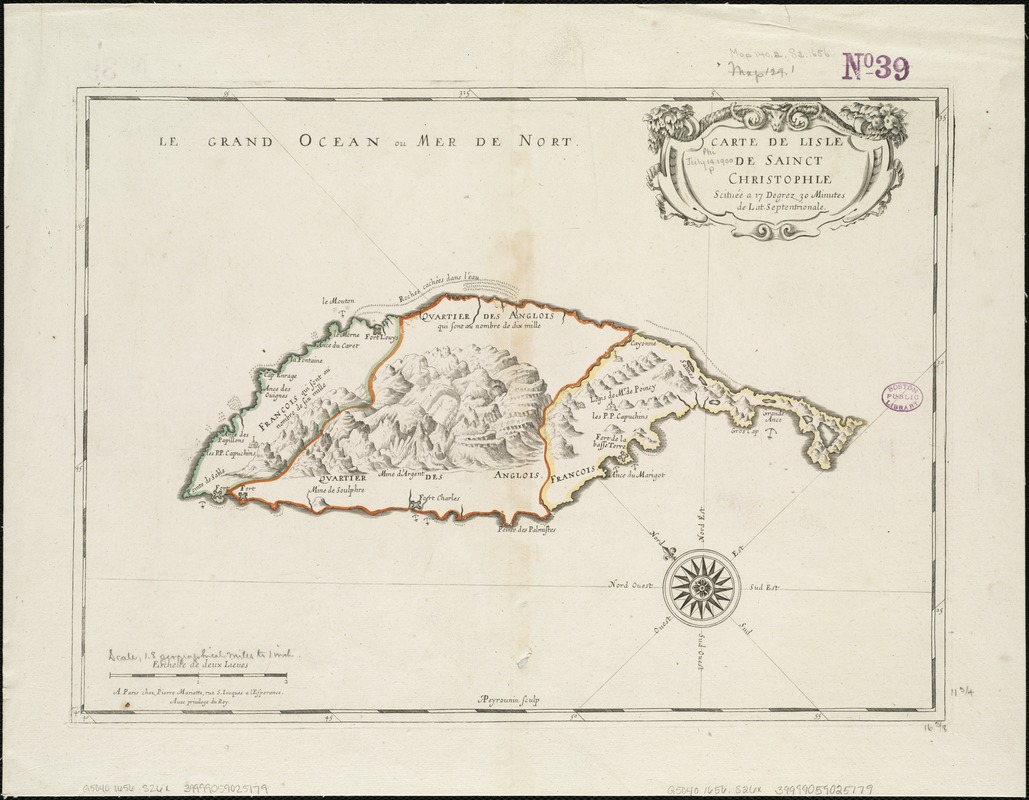 Carte de lisle de Sainct Christophle