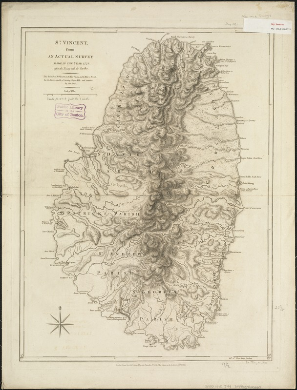 St. Vincent, from an actual survey made in the year 1773