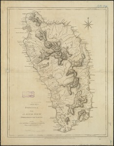 Dominica from an actual survey compleated in the year 1773