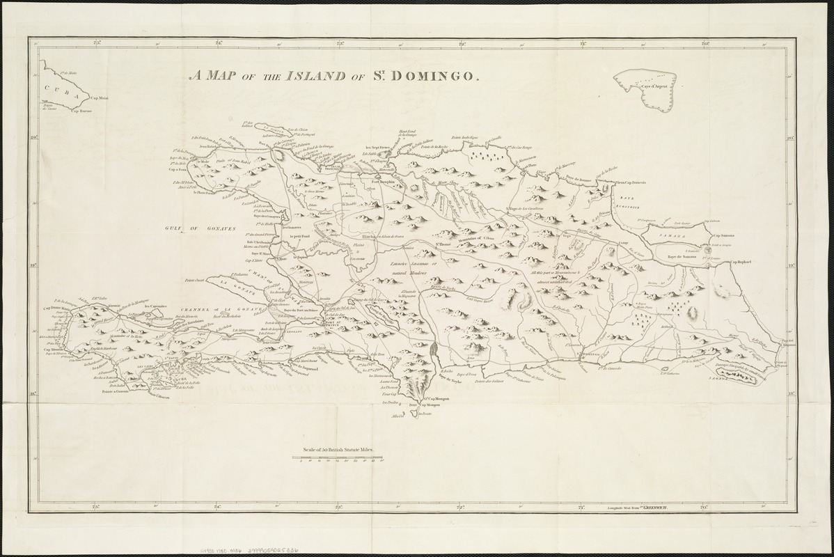 A map of the island of St. Domingo