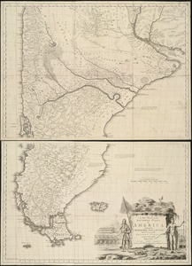 A new map of the southern parts of America taken from manuscript maps made in the country and a survey of the eastern coast maode by the order of the King of Spain