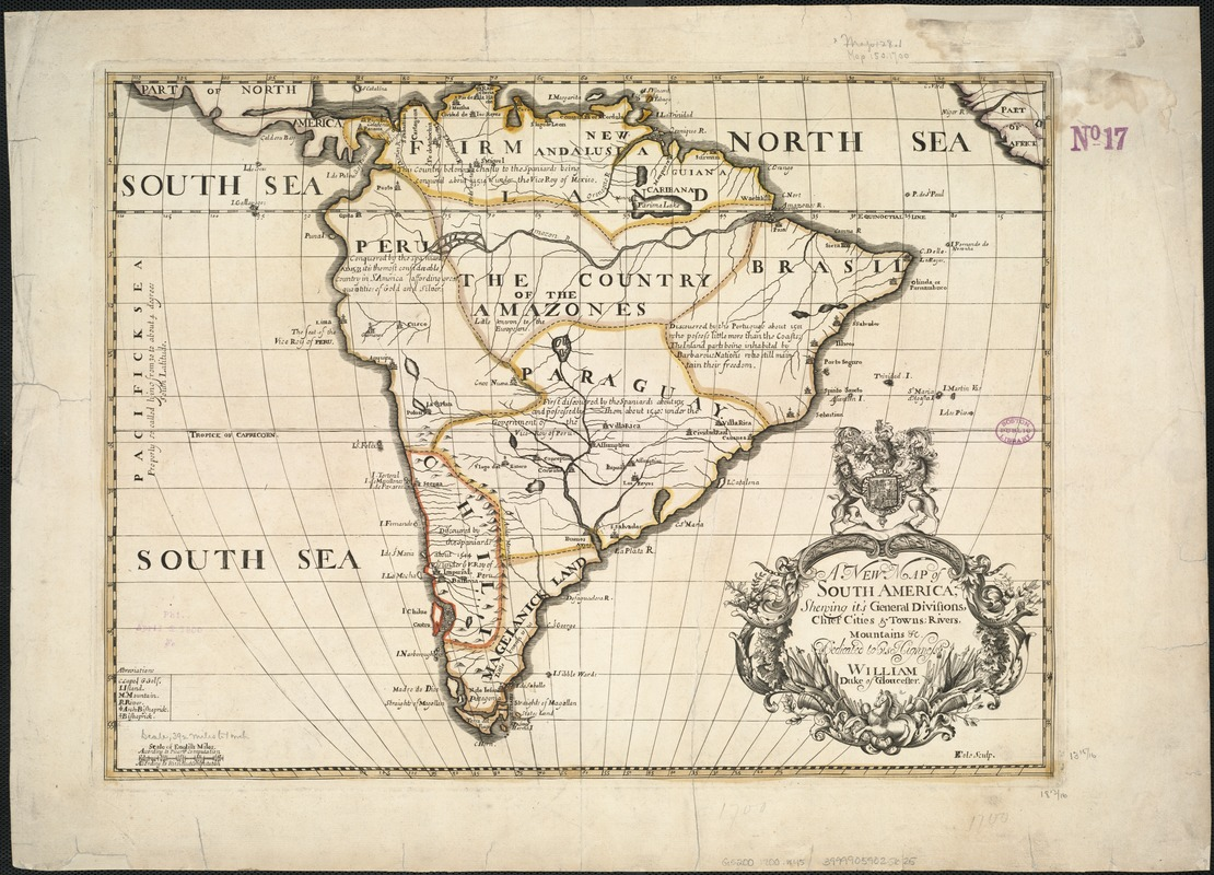 A new map of South America