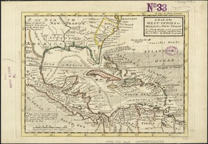A map of the West-Indies &c. Mexico or New Spain