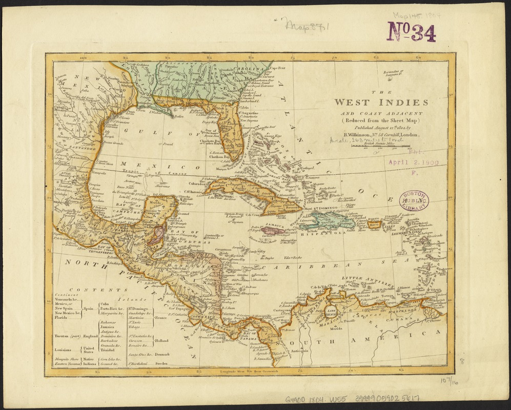 The West Indies and coast adjacent