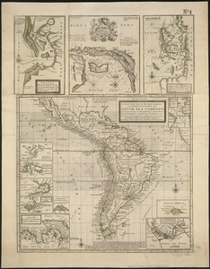 A new & exact map of the coast, countries and islands within ye limits of ye South Sea Company, from ye river Aranoca to Terra del Fuego, and from thence through ye South Sea, to ye north part of California &c. with a view of the general and coasting trade-winds