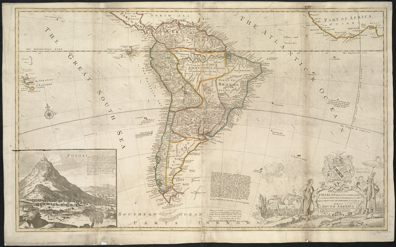 This map of South America, according to the newest and most exact observations