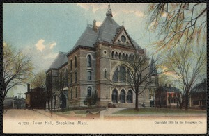 Town Hall, Brookline, Mass. (color)
