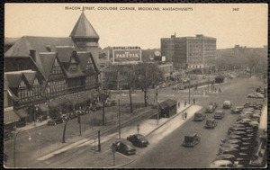 Beacon Street, Coolidge Corner, Brookline, Massachusetts