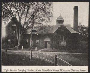 Brookline Water Works High Pumping Station, Newton St.