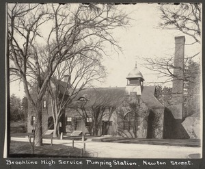 Brookline High Service Pumping Station, Newton St.