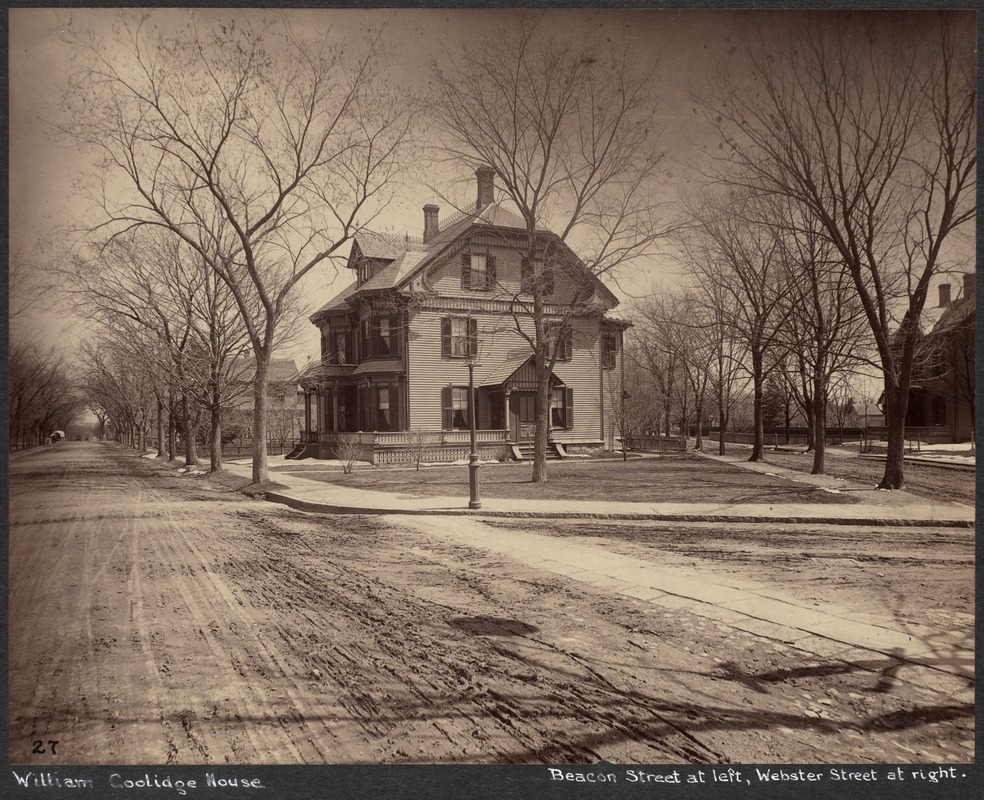 William Coolidge house, Beacon + Park Sts.