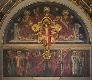 Dogma of the Redemption; Trinity and Crucifix, Frieze of Angels