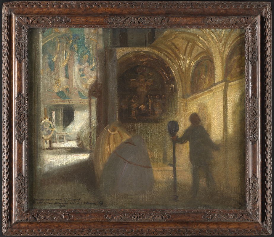 Memory impression of Mr. J. S. Sargent's Boston Public Library decoration before going to America