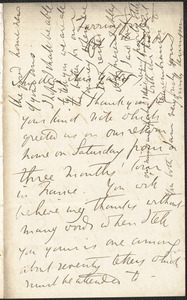 Emily Tennyson autograph letter signed to Mrs. Gatty, Farringford, [Isle of Wight], 1 October 1861