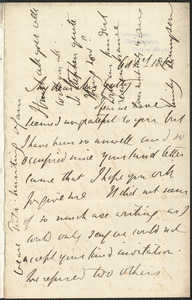 Emily Tennyson autograph letter signed to Mrs. Gatty, Farringford, Isle of Wight, 1 October 1863