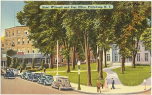 Hotel Witherill And Post Office Plattsburg N Y