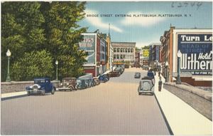 Bridge Street. Entering Plattsburgh, Plattsburgh, N. Y.