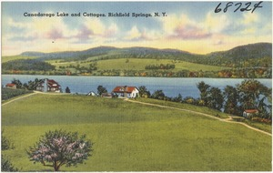 Canadarago Lake and Cottages, Richfield Springs, N. Y.