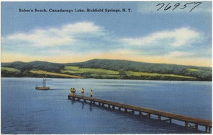 Baker's Beach, Canadarago Lake, Richfield Springs, N. Y.