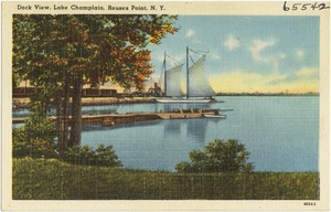 Dock view, Lake Champlain, Rouses Point, N. Y.