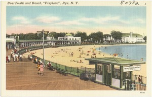 "Boardwalk and beach, ""Playland"", Rye, N. Y."
