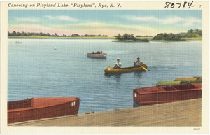 "Canoeing on Playland Lake, ""Playland"", Rye, N. Y."