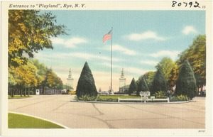 "Entrance to ""Playland"", Rye, N. Y."