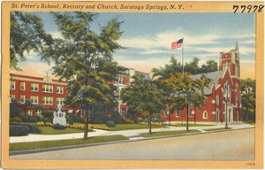 St. Peter's School, rectory and church, Saratoga Springs, N. Y.