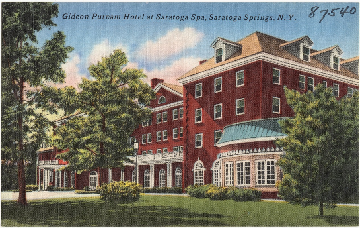 Gideon Putnam Hotel At Saratoga Spa Springs N Y