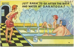 Just rarin' to go after the bath and water at Saratoga!