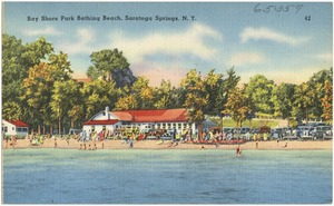 Bay Shore Park bathing beach, Saratoga Springs, N. Y.
