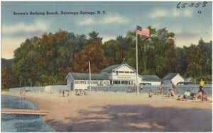 Brown's Bathing Beach, Saratoga Springs, N. Y.