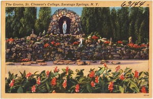 The Grotto, St. Clement's College, Saratoga Springs, N. Y.