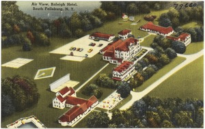 Air view, Raleigh Hotel, South Fallsburg, N. Y.