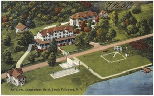 Air view, Commodore Hotel, South Fallsburg, N. Y.