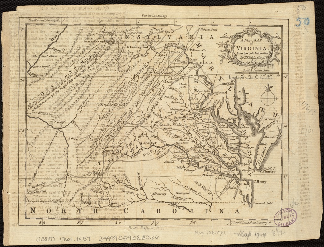 A new map of Virginia from the best authorities
