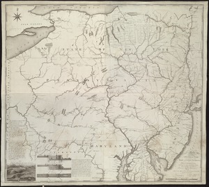A map exhibiting a general view of the roads and inland navigation of Pennsylvania, and part of the adjacent states
