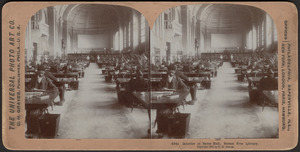 Interior of Bates Hall, Boston Free Library