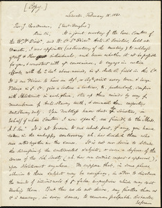 Copy of a letter from Samuel May, Jr., Leicester, [Mass.], to John Boardman, February 18, 1841