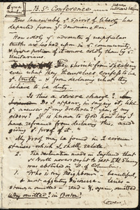 Notes for a speech on slavery by Samuel May, Jr.