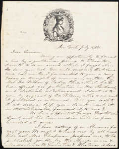 Letter from Oliver Johnson, New York, [N.Y.], to William Lloyd Garrison, July 16, 1841