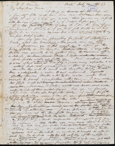 Letter from Francis Jackson, Boston, [Mass.], to William Lloyd Garrison, July 26 1843
