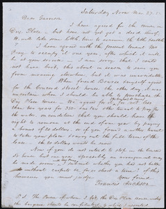 Letter from Francis Jackson, [Place of publication not identified], to William Lloyd Garrison, Mar[ch]. 27. [18]'52