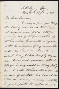 Letter from Oliver Johnson, New York, [N.Y.], to William Lloyd Garrison, 16 Jan[uary], 1858