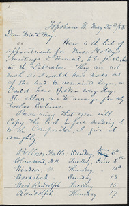 Letter from Nathan Robinson Johnston, Topsham, Vt., to William Lloyd Garrison, May 22nd / [18]58