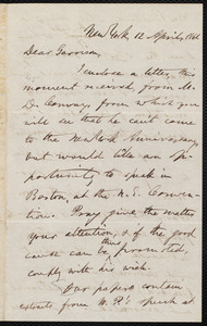 Letter from Oliver Johnson, New York, [N.Y.], to William Lloyd Garrison, 12 April, 1861