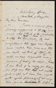 Letter from Oliver Johnson, New York, [N.Y.], to William Lloyd Garrison, 7 May, 1861