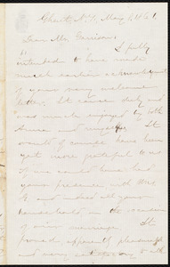 Letter from Aaron Macy Powell, Ghent, N.Y., to William Lloyd Garrison, May 8, 1861